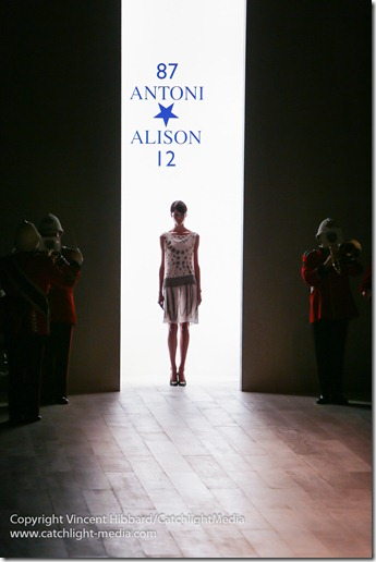 Antoni & Alison show during London Fashion Week, Spring/Summer 2013
